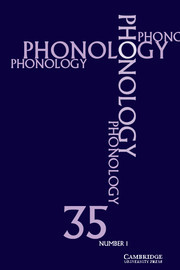 Phonology Volume 35 - Issue 1 -