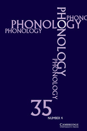 Phonology Volume 35 - Issue 4 -