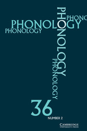 Phonology Volume 36 - Issue 2 -