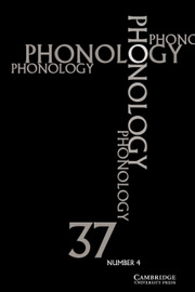 Phonology Volume 37 - Issue 4 -