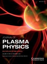 Journal of Plasma Physics Volume 79 - Issue 6 -  Special issue in memory of Professor Padma Kant Shukla 1950-2013