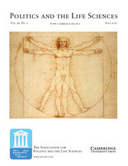 Politics and the Life Sciences Volume 36 - Issue 2 -
