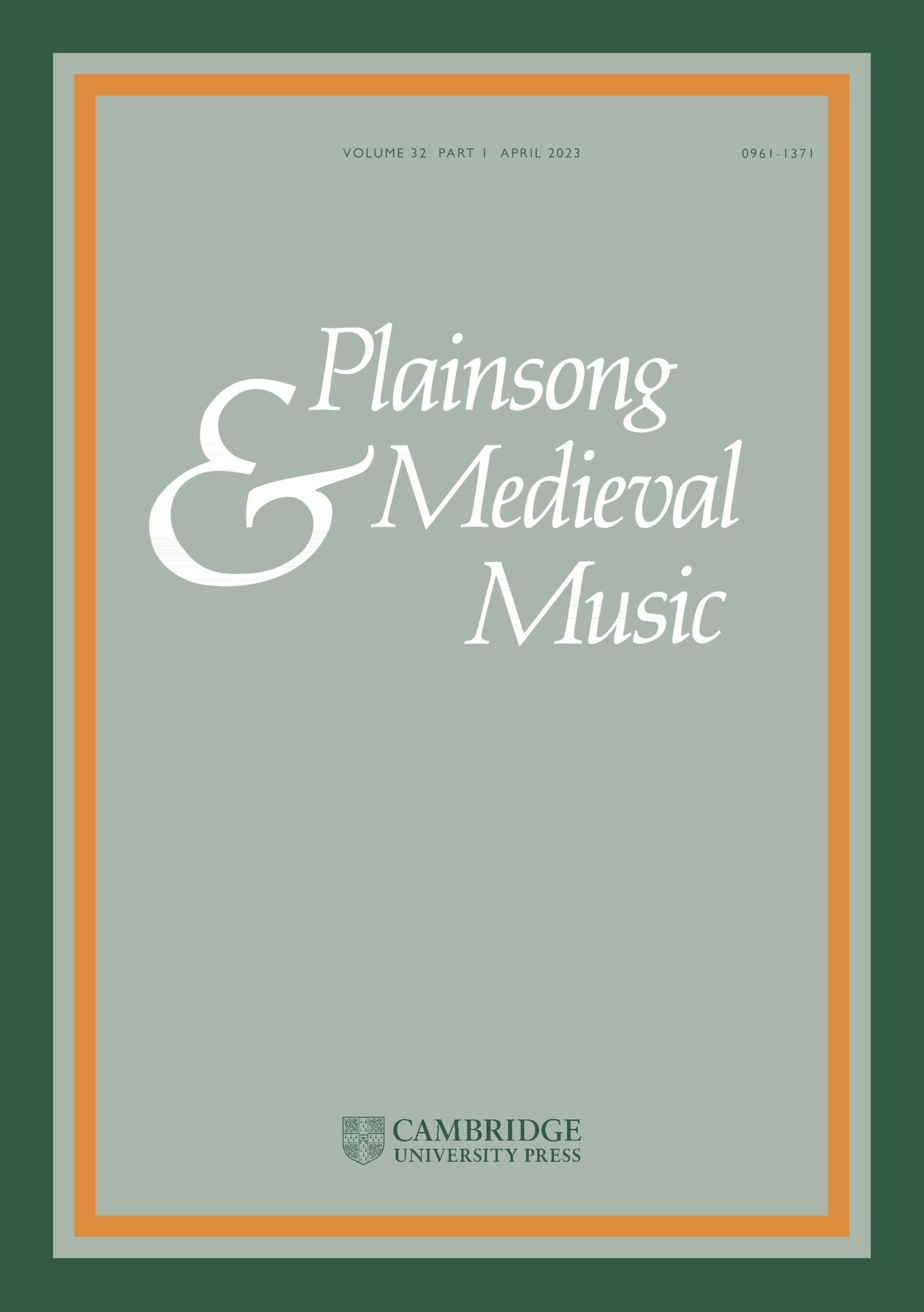 Plainsong & Medieval Music | Cambridge Core