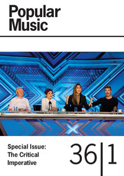 Popular Music Volume 36 - Special Issue1 -  The Critical Imperative