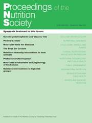 Proceedings of the Nutrition Society Volume 66 - Issue 2 -