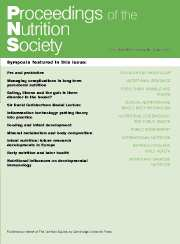 Proceedings of the Nutrition Society Volume 66 - Issue 3 -