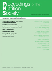 Proceedings of the Nutrition Society Volume 68 - Issue 1 -