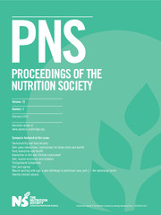 Proceedings of the Nutrition Society Volume 72 - Issue 1 -