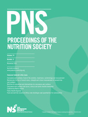 Proceedings of the Nutrition Society Volume 74 - Issue 4 -