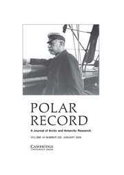 Polar Record Volume 44 - Issue 1 -