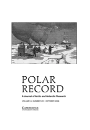 Polar Record Volume 44 - Issue 4 -
