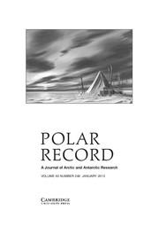Polar Record Volume 49 - Issue 1 -