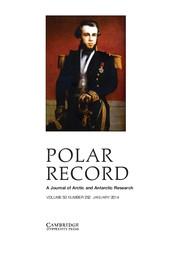 Polar Record Volume 50 - Issue 1 -
