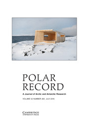 Polar Record Volume 52 - Issue 4 -