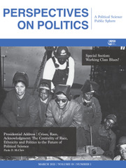 Perspectives on Politics Volume 19 - Issue 1 -