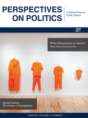 Perspectives on Politics Volume 19 - Issue 2 -