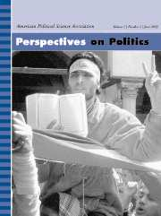 Perspectives on Politics Volume 1 - Issue 2 -