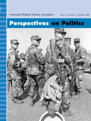 Perspectives on Politics Volume 1 - Issue 4 -