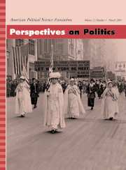 Perspectives on Politics Volume 2 - Issue 1 -