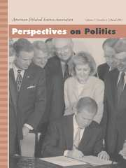 Perspectives on Politics Volume 3 - Issue 1 -