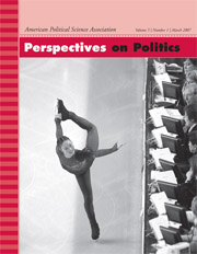 Perspectives on Politics Volume 5 - Issue 1 -