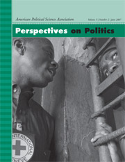 Perspectives on Politics Volume 5 - Issue 2 -