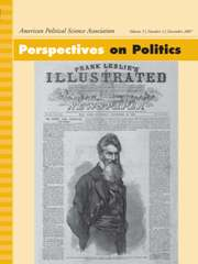 Perspectives on Politics Volume 5 - Issue 4 -