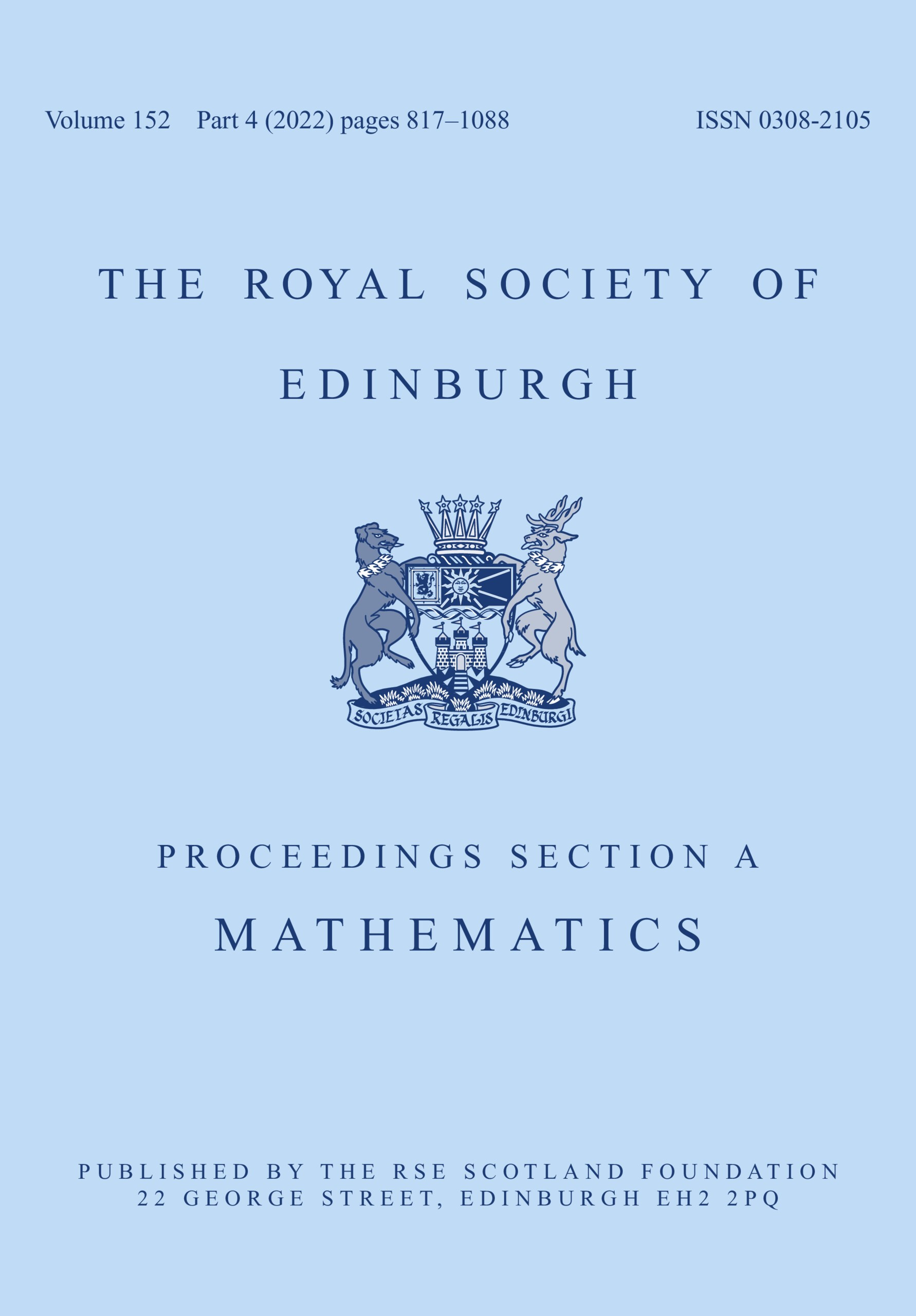 Proceedings of the Royal Society of Edinburgh Section A: Mathematics