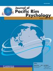 Journal of Pacific Rim Psychology