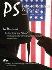 PS: Political Science & Politics Volume 40 - Issue 3 -