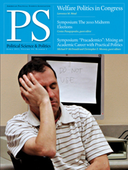 PS: Political Science & Politics Volume 44 - Issue 2 -