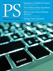 PS: Political Science & Politics Volume 47 - Issue 1 -
