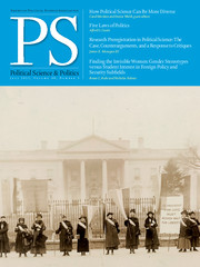 PS: Political Science & Politics Volume 48 - Issue 3 -