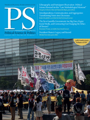 PS: Political Science & Politics Volume 50 - Issue 1 -