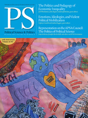 PS: Political Science & Politics Volume 50 - Issue 4 -