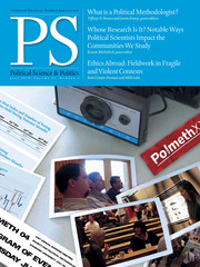 PS: Political Science & Politics Volume 51 - Issue 3 -