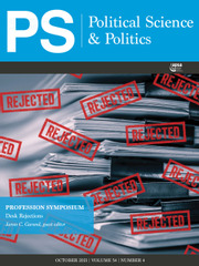 PS: Political Science & Politics Volume 54 - Issue 4 -