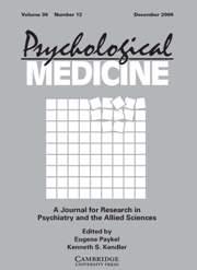 Psychological Medicine Volume 36 - Issue 12 -