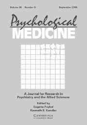 Psychological Medicine Volume 36 - Issue 9 -