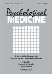 Psychological Medicine Volume 37 - Issue 10 -