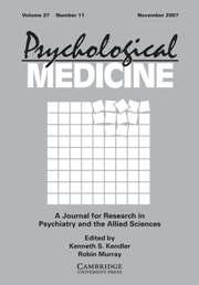 Psychological Medicine Volume 37 - Issue 11 -