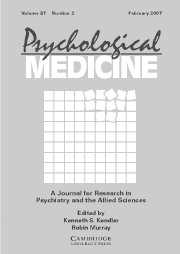 Psychological Medicine Volume 37 - Issue 2 -
