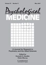 Psychological Medicine Volume 37 - Issue 5 -