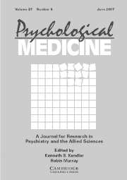 Psychological Medicine Volume 37 - Issue 6 -