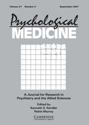 Psychological Medicine Volume 37 - Issue 9 -