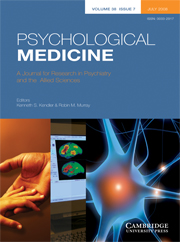 Psychological Medicine Volume 38 - Issue 7 -