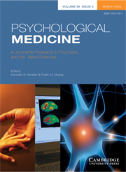 Psychological Medicine Volume 39 - Issue 3 -