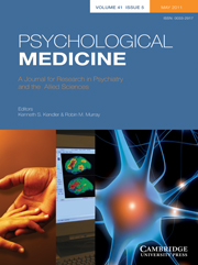 Psychological Medicine Volume 41 - Issue 5 -
