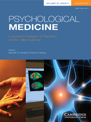 Psychological Medicine Volume 42 - Issue 8 -