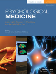 Psychological Medicine Volume 43 - Issue 3 -